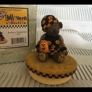 Halloween bear candle topper